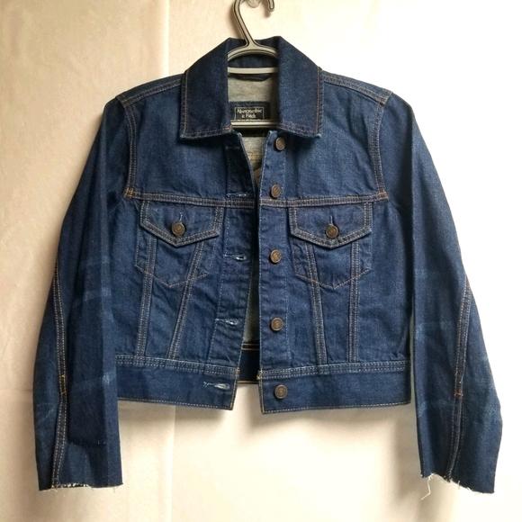 Abercrombie & Fitch Cropped Denim Jacket XS